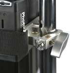 Clamp rear view: The Phottix Indra Battery Pack Mount