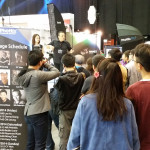 Nik Perkidis gives a demo at the Phottix Booth