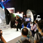 Bobbi Lane gives a demo at the Phottix Booth as part of TTLHK.