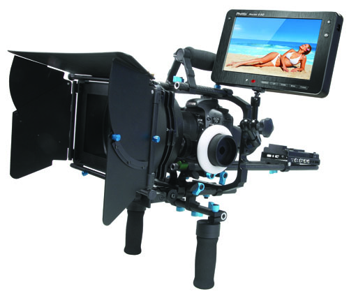 The Phottix Trafo Shoulder Rig with Hector 9HD Monitor